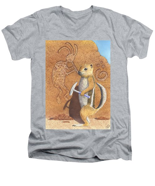 And You Thought It Was The Anasazi Men's V-Neck T-Shirt