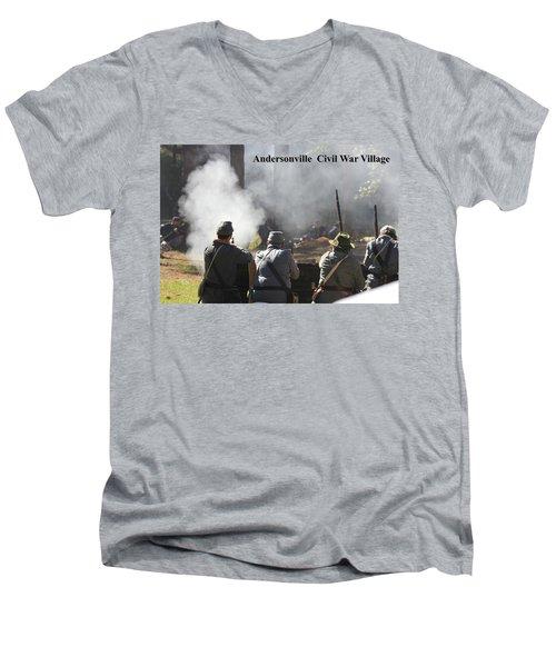 Andersonville Civil War Village Men's V-Neck T-Shirt