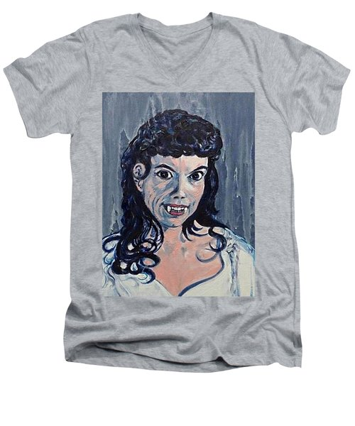Andree Melly As Gina In The Brides Of Dracula  Men's V-Neck T-Shirt