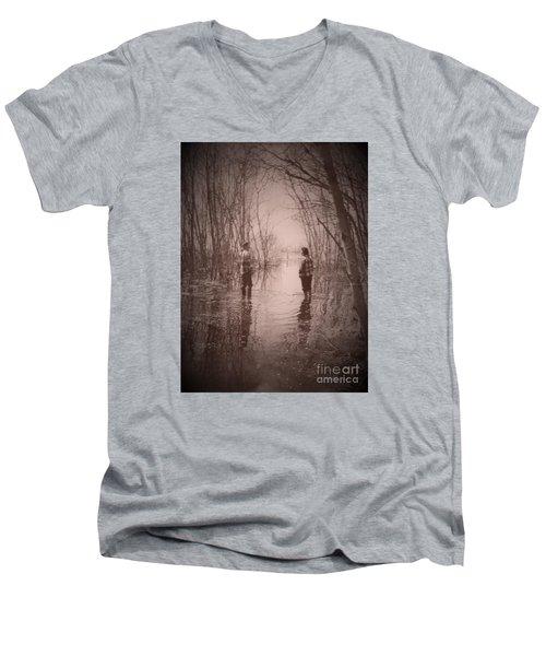 Andrew And Sarah Men's V-Neck T-Shirt