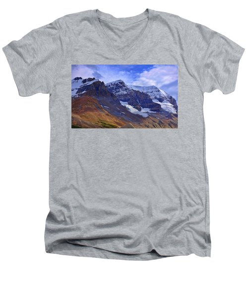 Mount Andromeda Men's V-Neck T-Shirt by Heather Vopni
