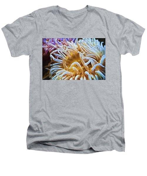 Anemone Flower Men's V-Neck T-Shirt