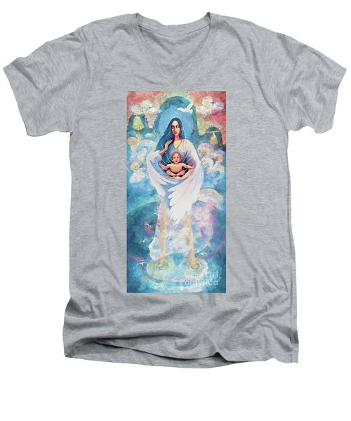 Angel Blessing Men's V-Neck T-Shirt