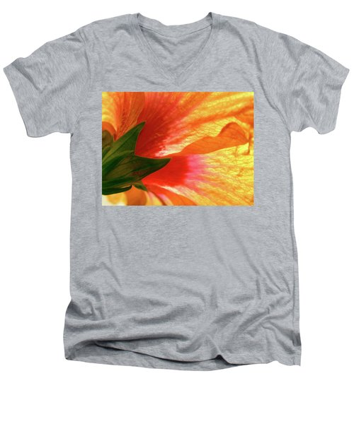 Men's V-Neck T-Shirt featuring the photograph Angel Brushstrokes  by Marie Hicks