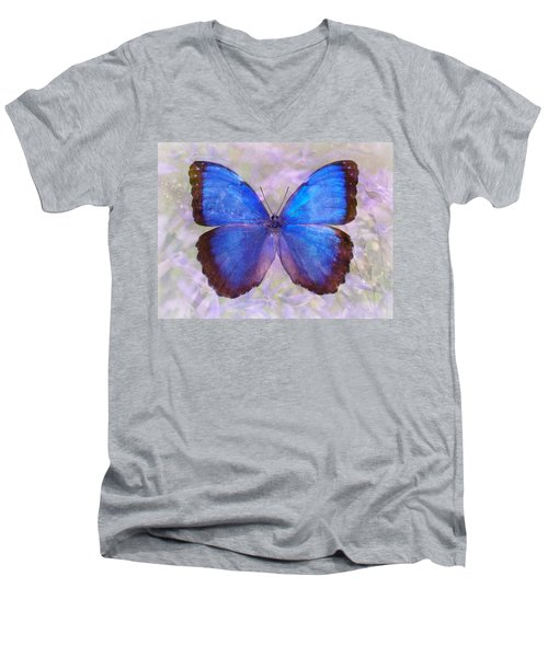 Angel In Blue Men's V-Neck T-Shirt