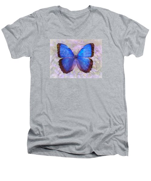 Angel In Blue Men's V-Neck T-Shirt