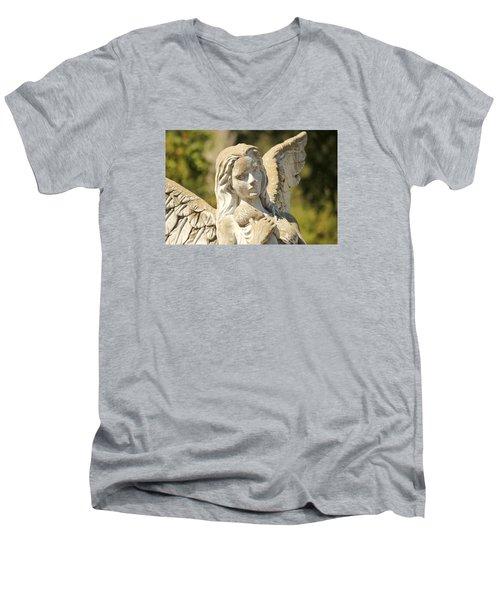 Angel In Mississippi Men's V-Neck T-Shirt by Lynn Jordan