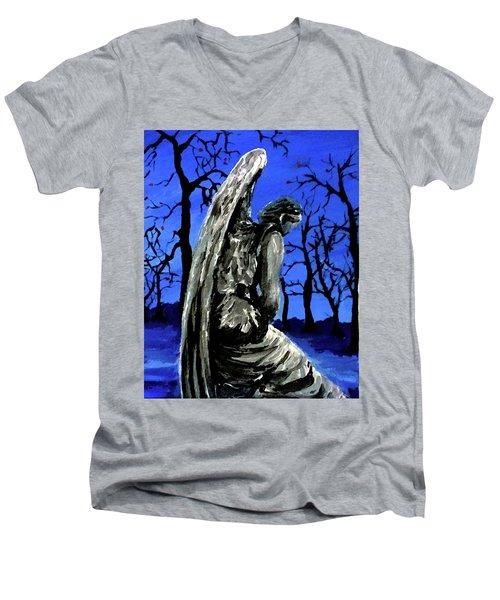 Winter Angel Men's V-Neck T-Shirt
