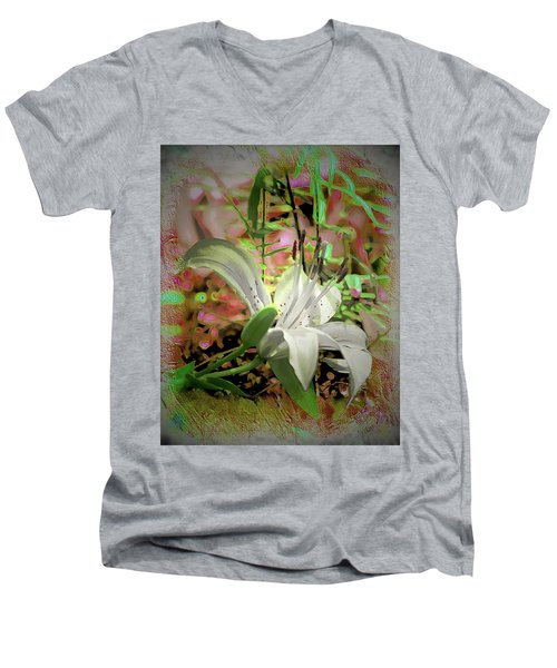 Angel Lily Men's V-Neck T-Shirt