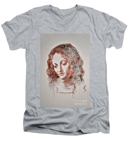 Angel Madonna Men's V-Neck T-Shirt