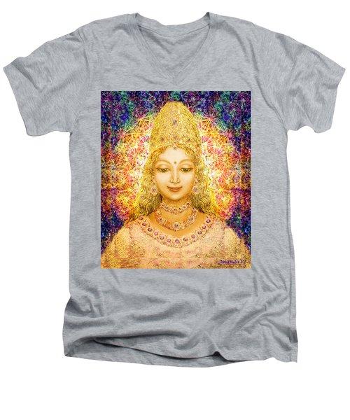 Angel Of Beauty In Blue Men's V-Neck T-Shirt