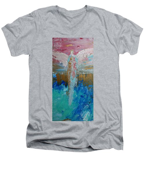 Angel Of Divine Love Men's V-Neck T-Shirt