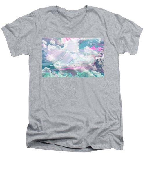 Angel Art Angel Of Peace And Healing Men's V-Neck T-Shirt
