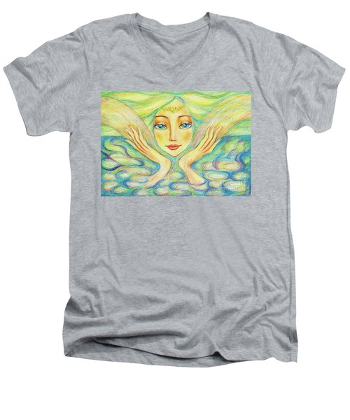 Angel Of Serenity Men's V-Neck T-Shirt