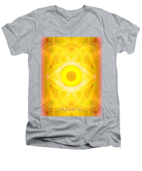 Angel Of The Sun Men's V-Neck T-Shirt by Diana Haronis