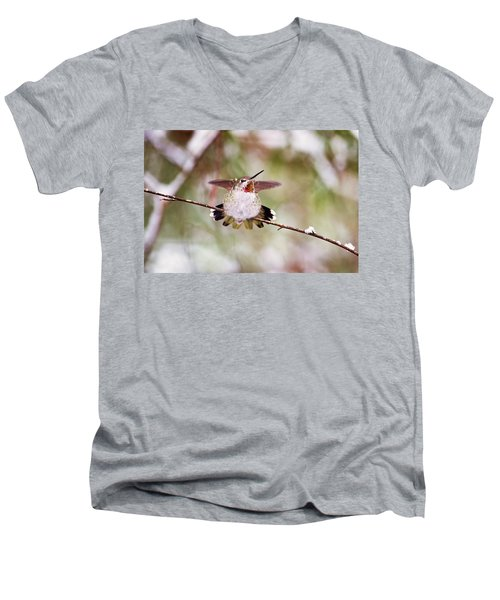 Angel Wings Men's V-Neck T-Shirt by Peggy Collins