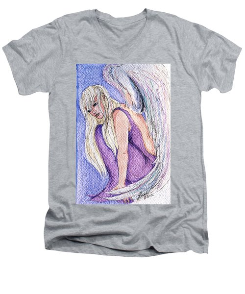 Angels Among Us Men's V-Neck T-Shirt