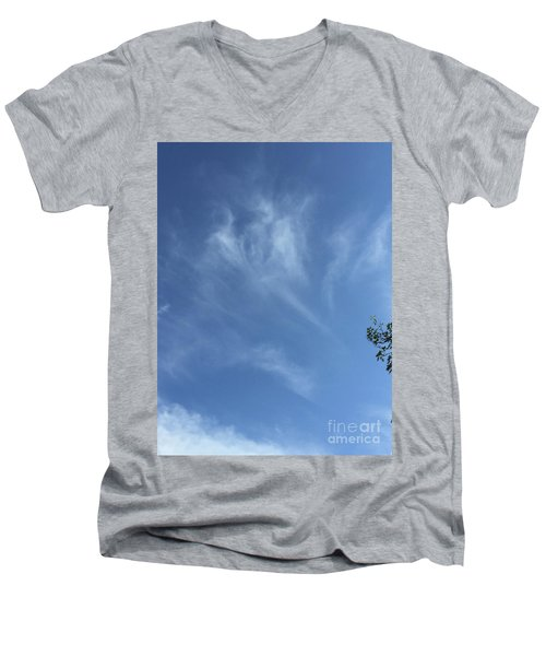 Angels Appear Over The Old Farm Men's V-Neck T-Shirt