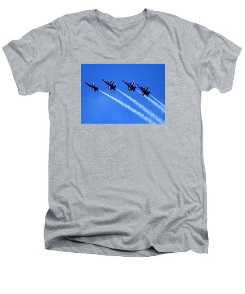 Angels Four Men's V-Neck T-Shirt