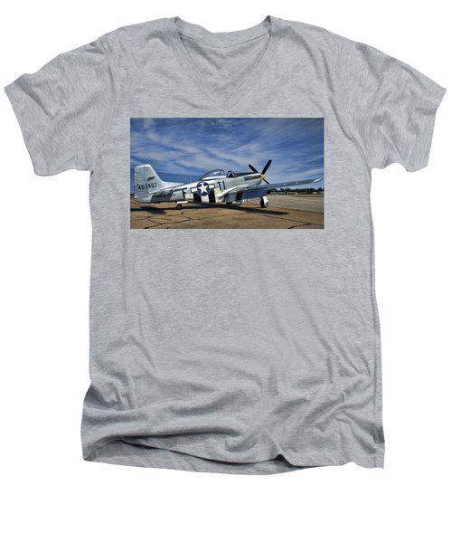 Angels Playmate  Men's V-Neck T-Shirt