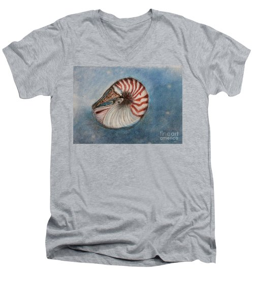 Angel's Seashell  Men's V-Neck T-Shirt by Kim Nelson