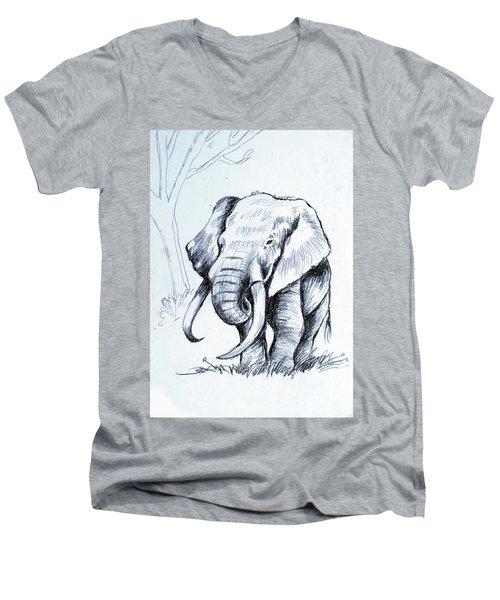Angry Men's V-Neck T-Shirt
