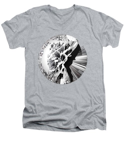 Angst IIi Painting As A Spherical Depth Map. 1 Men's V-Neck T-Shirt by Paul Davenport
