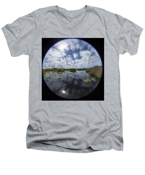 Anhinga Trail 86 Men's V-Neck T-Shirt by Michael Fryd