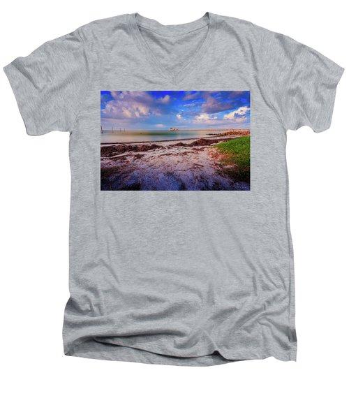 Anna Maria City Pier Men's V-Neck T-Shirt