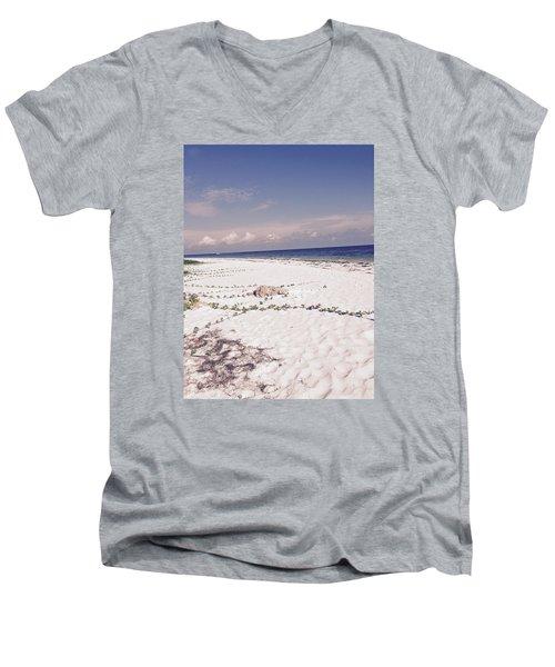 Anna Maria Island Beyond The White Sand Men's V-Neck T-Shirt