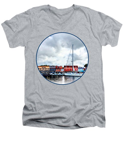 Annapolis Md - City Dock Men's V-Neck T-Shirt