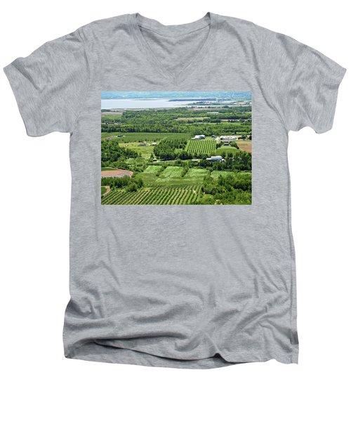 Annapolis Valley, Nova Scotia Men's V-Neck T-Shirt