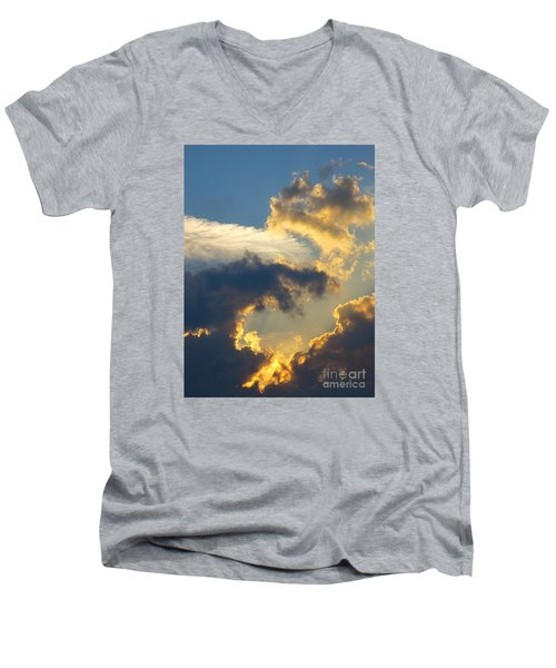 Another Beautiful Grouping Of Florida Clouds At Sunset.  Men's V-Neck T-Shirt