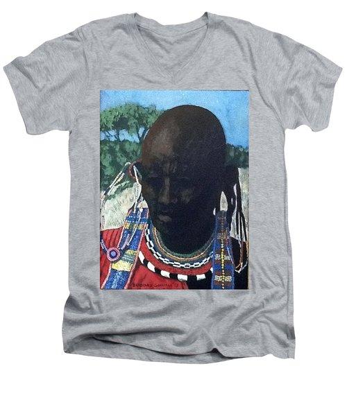 Another Cloudless Day Men's V-Neck T-Shirt by Bernard Goodman