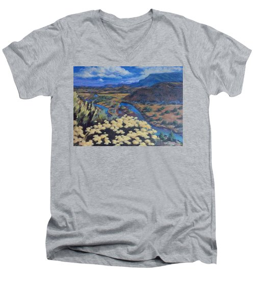 Another Day Above Rio Chama Men's V-Neck T-Shirt
