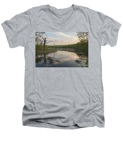 Another Era Men's V-Neck T-Shirt by Angelo Marcialis