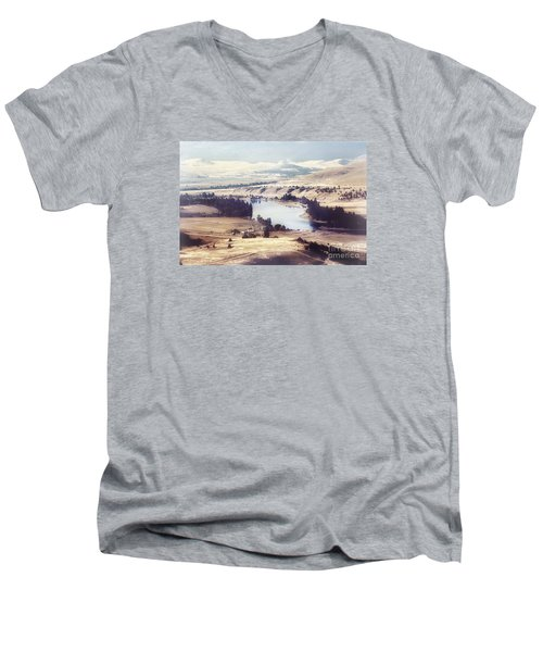 Another Flathead River Image Men's V-Neck T-Shirt by Janie Johnson