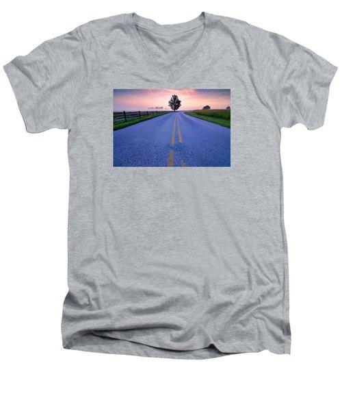 Another Gettysburg Morning Men's V-Neck T-Shirt by Craig Szymanski