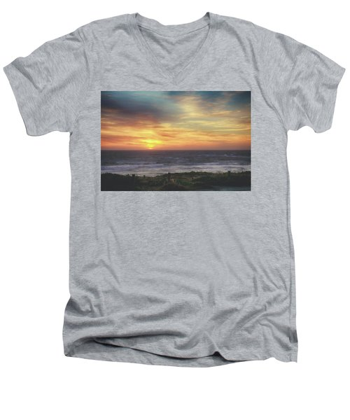 Another Goodbye Men's V-Neck T-Shirt by Laurie Search
