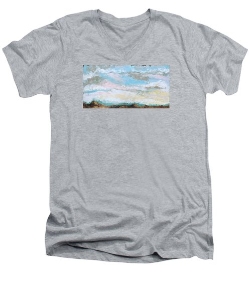 Another Kiss Men's V-Neck T-Shirt by Nathan Rhoads