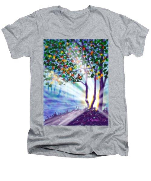 Another Lightburst Men's V-Neck T-Shirt