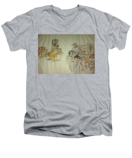 Another Look At Mental Illness Album Men's V-Neck T-Shirt by Debbi Saccomanno Chan