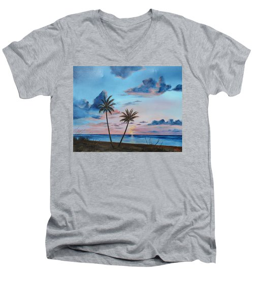 Another Paradise Sunset Men's V-Neck T-Shirt by Lloyd Dobson