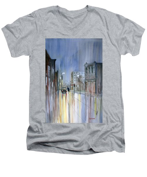 Another Rainy Night Men's V-Neck T-Shirt