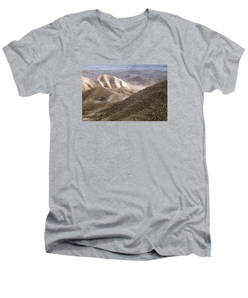 Another View From Masada Men's V-Neck T-Shirt by Dubi Roman