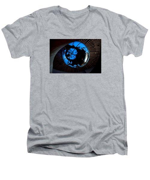 Antarctica Men's V-Neck T-Shirt by David Gilbert
