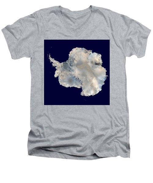 Antarctica From Blue Marble Men's V-Neck T-Shirt