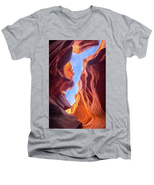 Antelope Canyon Men's V-Neck T-Shirt