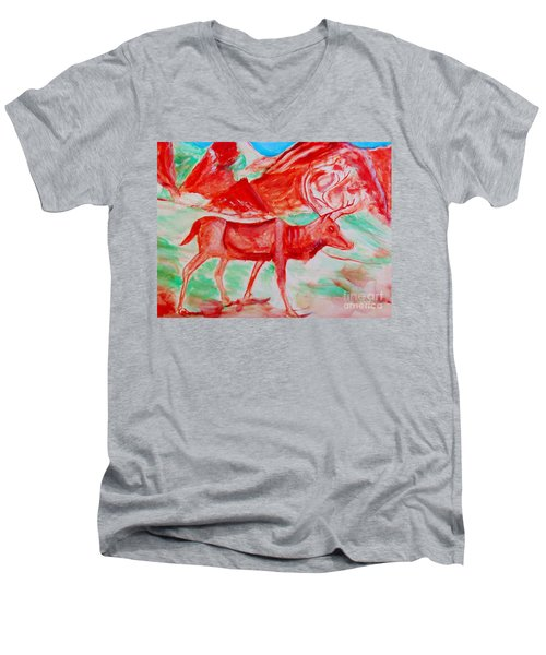 Antelope Save Men's V-Neck T-Shirt