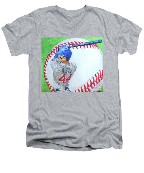 Anthony Rizzo 2016 Men's V-Neck T-Shirt